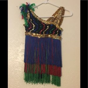 CL Child Large Dance Jazz Mardi Gras Party Costume